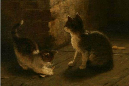 Rudolf Epp Detail of Cats in Peeling Apples