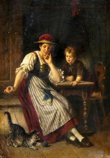 Rudolf Epp, Watching Kitty Play
