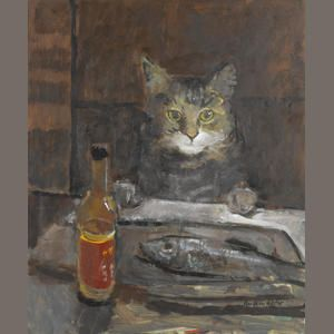 Ruskin Spear, Cat with Fish