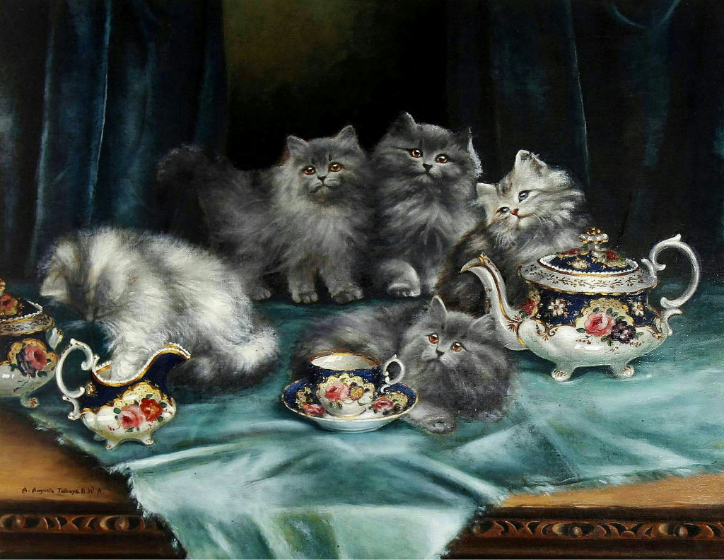 Cats, A Study in Blue, Agnes Augusta Talboys
