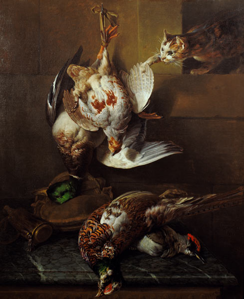 Alexandre Francois Desportes, A Cat Attacking Dead Game