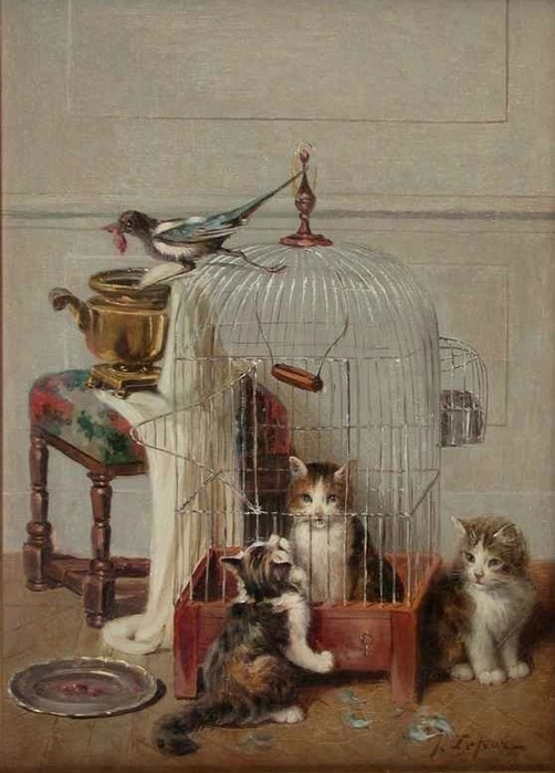 Jules Le Roy, Cat in a Bird Cage