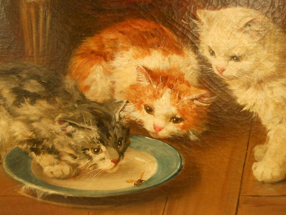 Jules Gustave Le Roy, Curious Kittens and Wasp