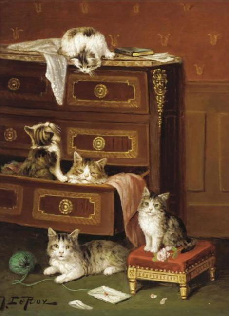 Jules Le Roy, Kittens Playing
