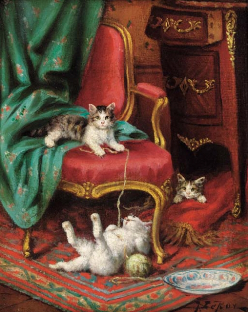 Jules Le Roy, Playful Kittens
