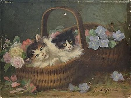 Jules Le Roy, Two Kittens in a Basket