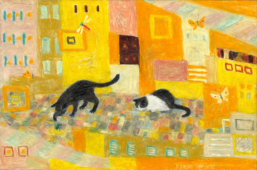 Kanoko Takeuchi, Cats with Yellow background