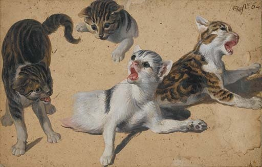 Kittens at Play, Alexandre-Francois Desportes, 1661-1743