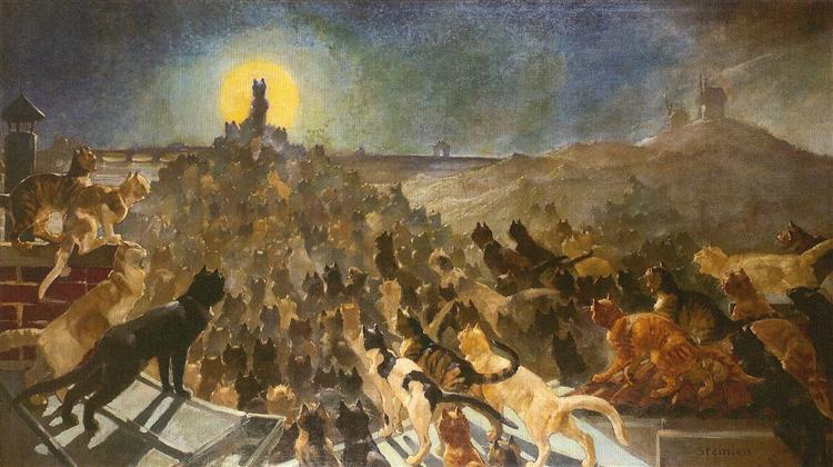Apotheosis of Cats, 1890, Theophile-Alexandre Steinlen