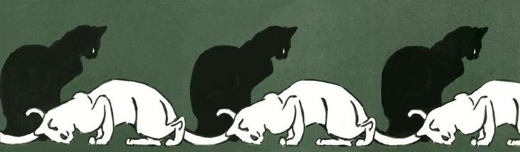Black and White Cats, Theophile Steinlen