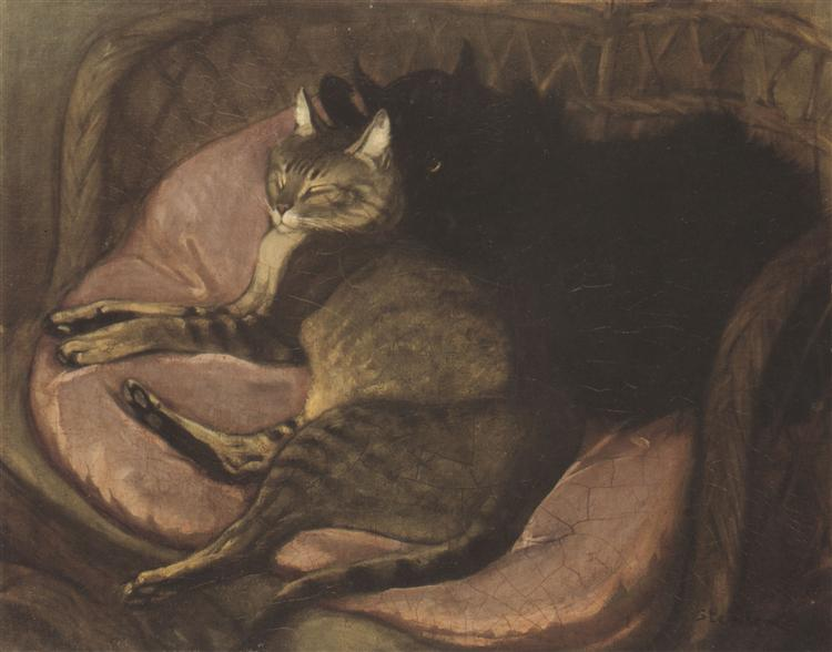 Cat on a Sofa, Theophile Steinlen