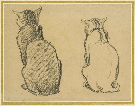 Cats Sitting, Theophile Steinlen