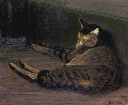Chat dormant, Theophile Steinlen