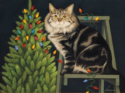 Christmas Tree and Cat, Lowell Herrero