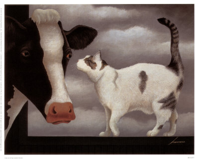 Cow and Cat, Lowell Herrero