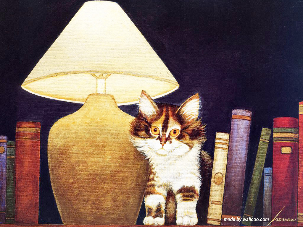 Cat in the Library, Lowell Herrero