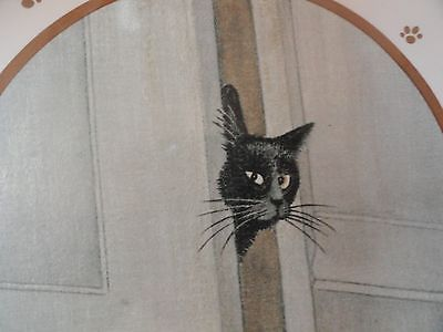 LOWELL HERRERO 1984 Black Cat in Door