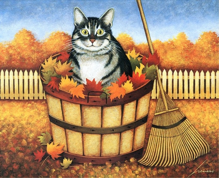 Lowell Herrero, Autumn Cat