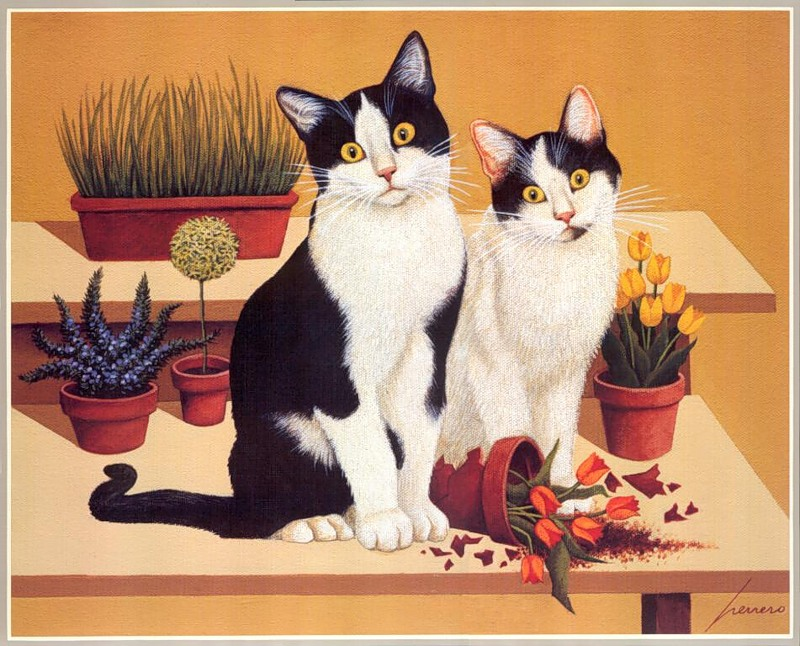 Lowell Herrero, Two Tuxedo Cats