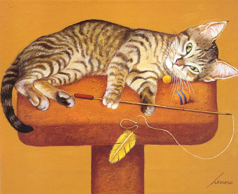 Cat Play time, Lowell Herrero