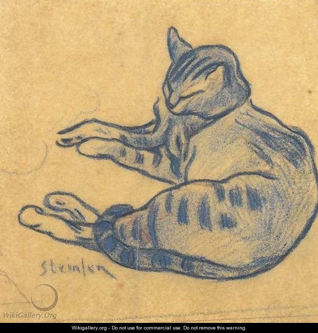 Theophile Steinlen The blue cat