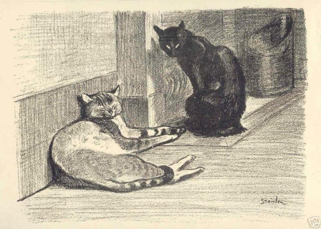 Theophile Steinlen, Two cats