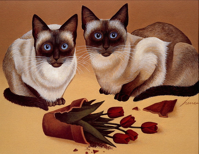 Two Siamese, Lowell Herrero