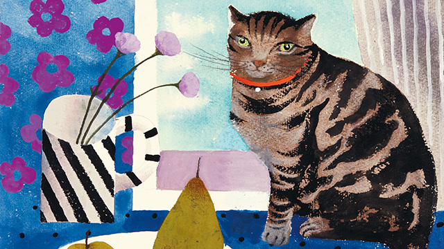 Cat and Pears, Mary Fedden