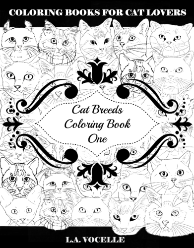 Cat Breeds Coloring Book One, by L.A. Vocelle