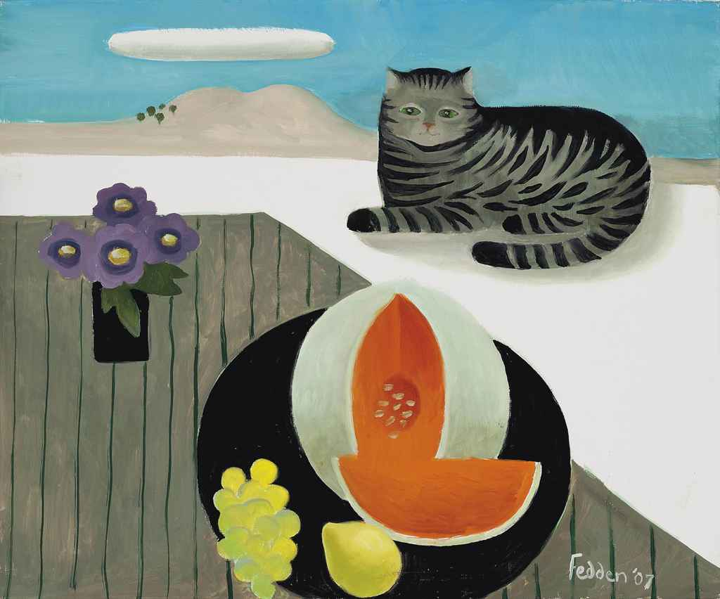 Tabby Cat and Melon, Mary Fedden