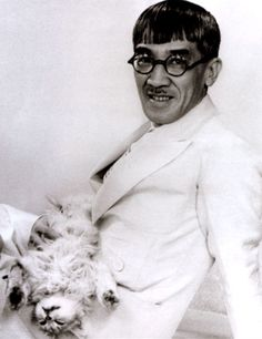 Photo of Foujita with Cat in Lap