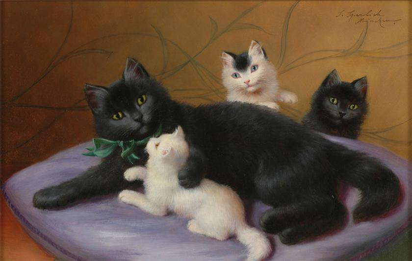 Sophie Sperlich, Mother Cat and Kittens