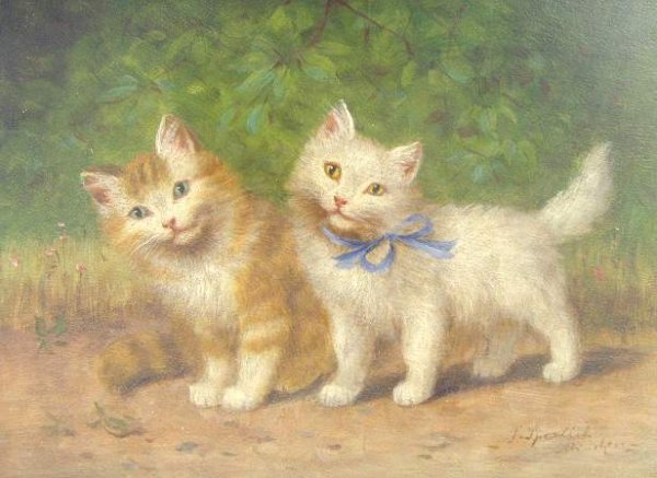 Sophie Sperlich, Two Standing Kittens