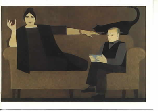 Kiesler, Wife and Cat and Husband, Will Barnet