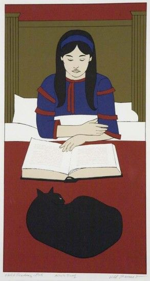 Will Barnet, Daughter Reading with Black Cat