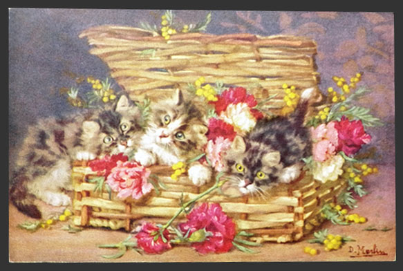 Basket full of Kittens Daniel Merlin private collection