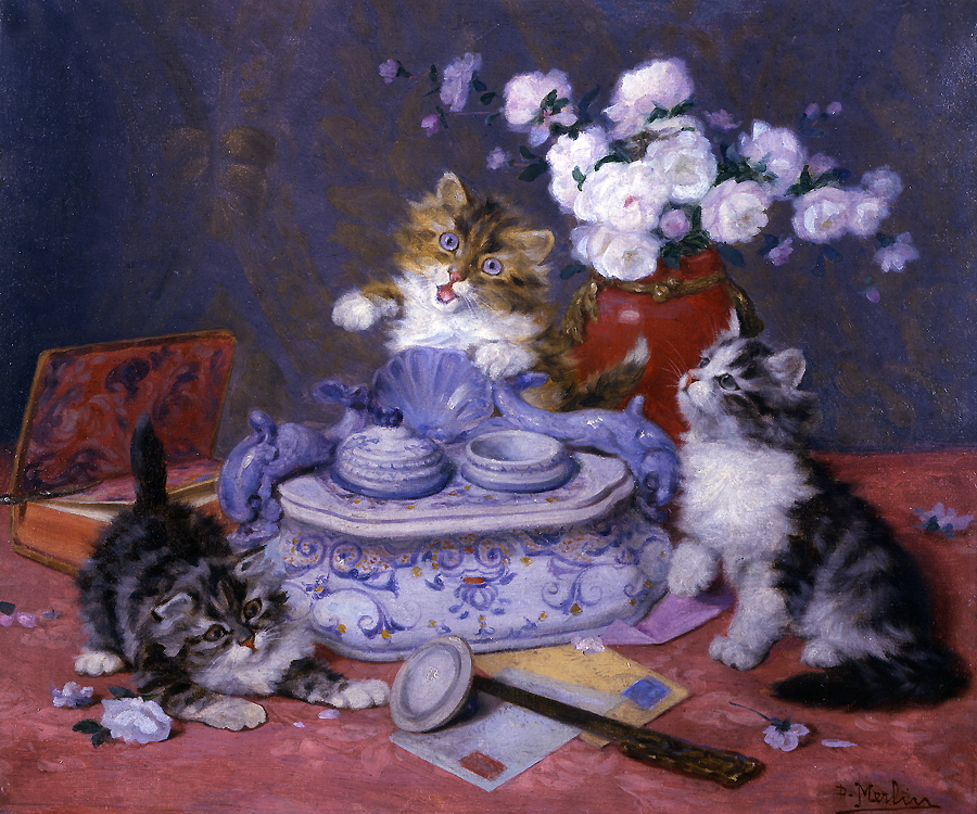 Kittens Playing, Daniel Merlin