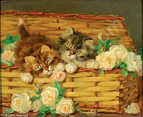 Kittens and Roses Daniel Merlin private collection