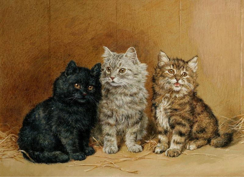 Three Kittens Daniel Merlin private collection