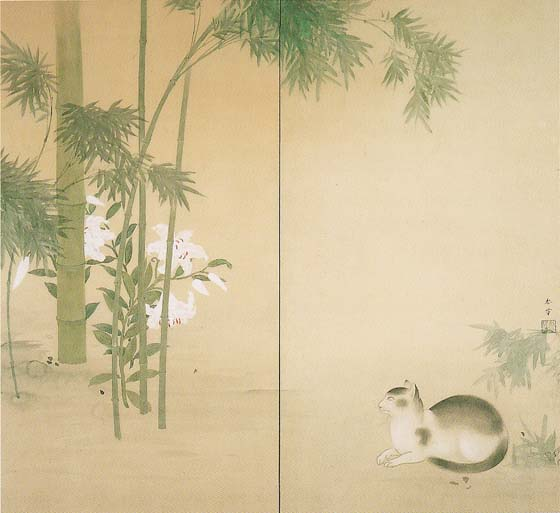 Bamboo and Cat, Hishida Shunso