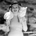 Betty Grable and cat Whitney 1935, famous cat lovers