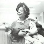 Butterfly McQueen and cat, famous cat lovers