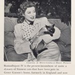 Greer Garson and cat, famous cat lovers