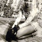 Josephine Baker and cat, famous cat lovers