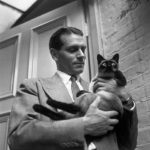 Laurence Olivier and cat