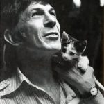 Leonard Nimoy and cat, famous cat lovers
