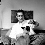 Paul Newman and cat, famous cat lovers