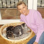 Vanna White and cats