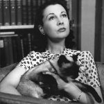 Vivien Leigh and cat