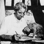 Albert Schweitzer and cat